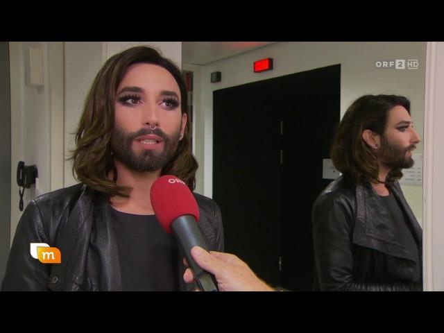Conchita Wurst, Wider die Gewalt-Gala (heute mittag, 11.10.2016)