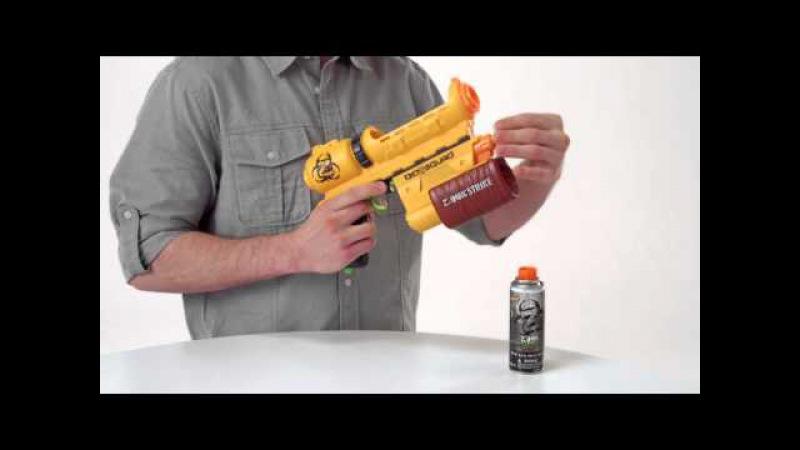 Nerf North America Product Demo ZombieStrike BioSquad Eraser ZR-100
