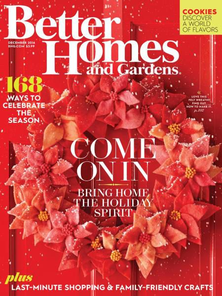 Better Homes and Gardens USA December 2016