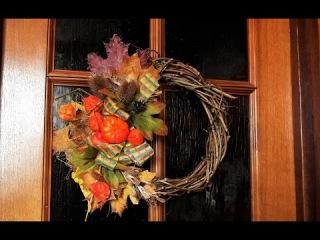 Мой прекрасный сад. М.К. Делаем венки на дверь от А до Я. 4 варианта. Wreaths for door 4 options.