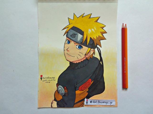 Speed Drawing Anime Naruto Uzumaki Рисую Аниме Наруто Узумаки アニメうずまきナルトドローイング Art D