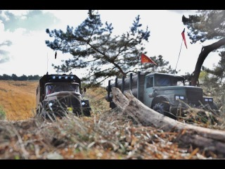 RC AXIAL SCX10 Kraz -255 ZIL-131 @ the Veluwe(NL)