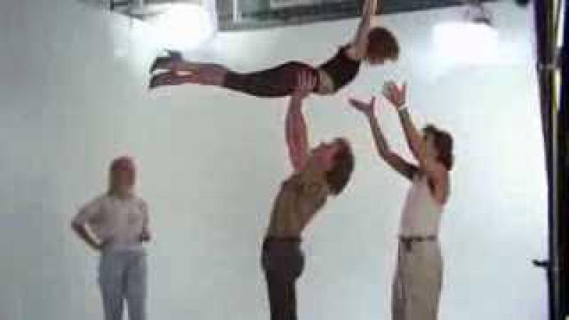 Jennifer Grey e Patrick Swayze Teste de palco
