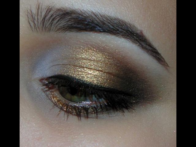 Золотой макияж с палеткой Atelier T14 и тенями от Тамми Тануки Русалка песчаного пляжа