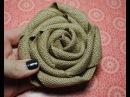 Stampin' Up Burlap Ribbon Burlap Rolled Flower Tutorial