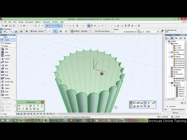Part 2 - Trunc of the column - ArchiCAD 18 tutorial 2015 A to Z ( Full HD)
