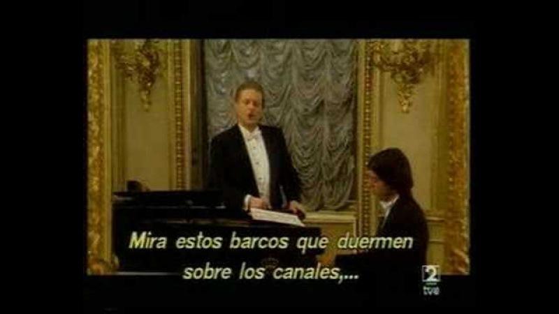 L´invitation au voyage - Alfredo Kraus y Edelmiro Arnaltes