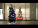 Man Running Through Tokyo Dressed as Christmas Tree Joseph Tame The Running Christmas Tree in Tokyo