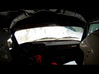 Lada 2105 Rally. Training on forest road