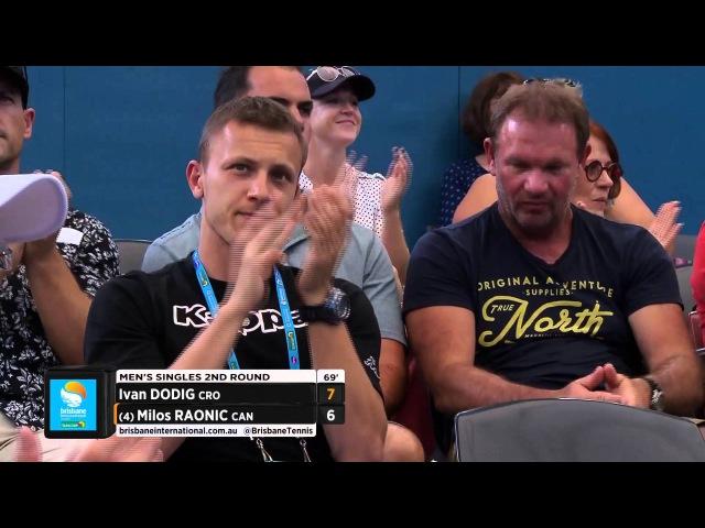 Milos Raonic v Ivan Dodig highlights (2R)