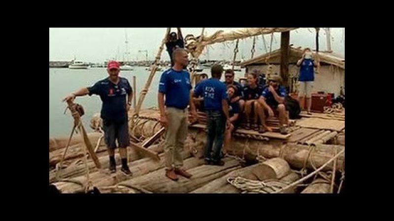 Экипаж Кон-Тики 2 проплывет 10 тысяч километров на двух плотах в открытом океане