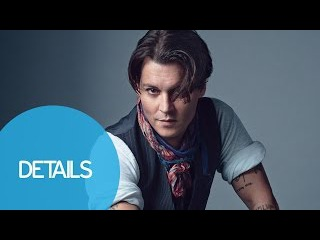 Johnny Depp Plays Guitar at the Details 2014 Cover Shoot