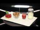 Yaourt, Granola, Coulis et tartelette framboise, verveine par Christophe Michalak ( DPDC)