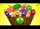 Учим фрукты,ягоды и овощи.Видео уроки для детей 1-5 лет.развивающие мультики для с