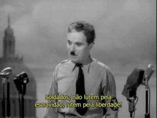 Charles Chaplin - O Grande Ditador - Discurso final (Legendado)