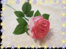 Роза из ткани своими руками 1 часть Подкраска лепестков Мастер класс Елена Шевченко