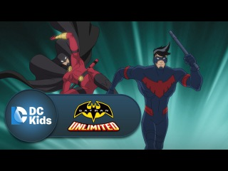 Nightwing and Red Robin vs. Silverback | Batman Unlimited | Episode 8