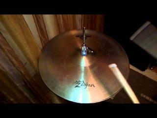 "Zildjian 15"" A New Beat Hi-Hat Cymbal (Pre-serial, 1980's)"