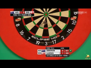 Australia vs Denmark (PDC World Cup of Darts 2016 / Second Round)