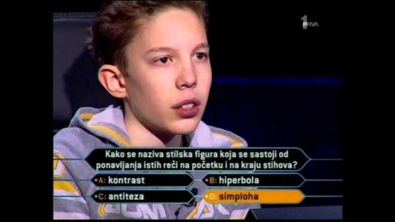 MILIONER KLINAC OTVORIO MILIONSKO PITANJE pt 2