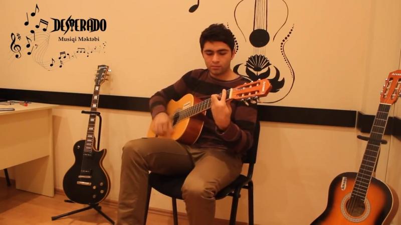 Ləzginka gitarada