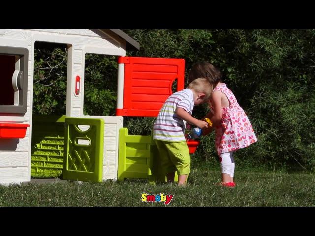 Просторный и красочный домик для друзей Smoby