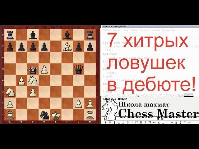 7 хитрых ловушек в дебюте в которые точно попадутся Chess openings traps