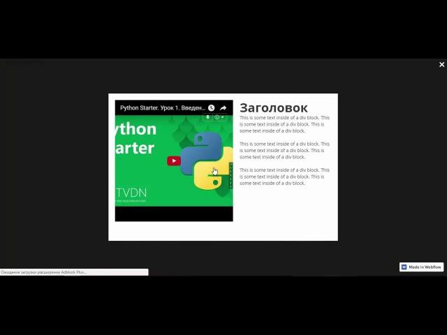 Lity кастомный лайтбокс с видео в Webflow Compit Online