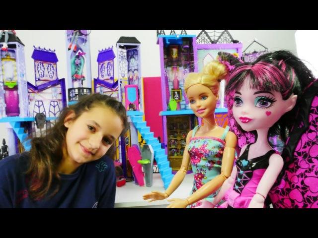 Barbie MACERALARI MonsterHigh okuluna geliyor eğlencelioyunlar
