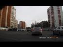 Опубликовано видео момента ДТП с перевернувшимся такси на Щелковском шоссе