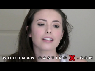 Casey Calvert анальный кастинг по самые яйца (Woodman Casting 2017, dp, anal)