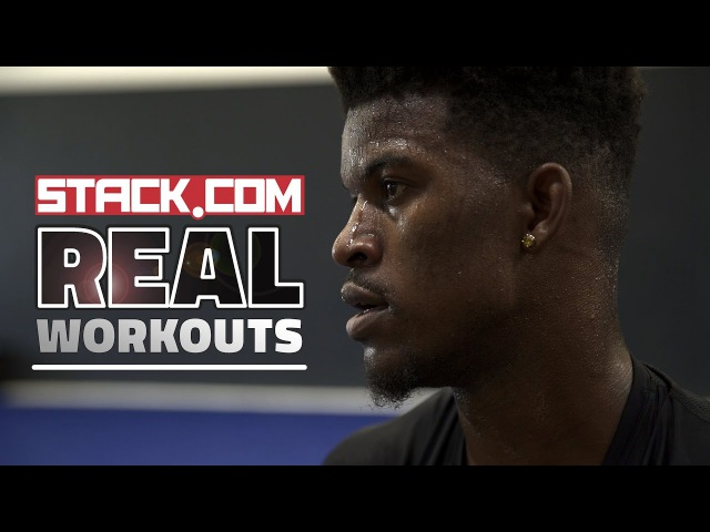 Real Workouts NBA Star Jimmy Butler Pt 1 Weight Room Work