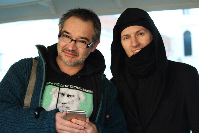 Павел Дуров: С Антоном Носиком в Венеции в январе 2015 года.
