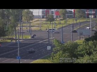 Неловкое ДТП Брест Московская - Пионерская.