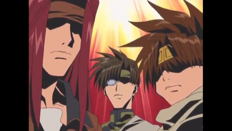 Время накостылять Санзо момент из аниме Saiyuuki Reload