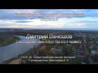 """Фестиваль детского творчества """"Варенье"""" Дмитрий Ванюшов"""