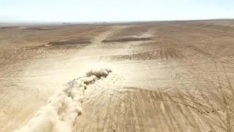 Взрывная волна при выстреле из танкового орудия