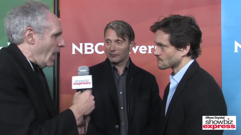 Hannibal's Mads Mikkelsen Hugh Dancy Talk w Ross Crystal