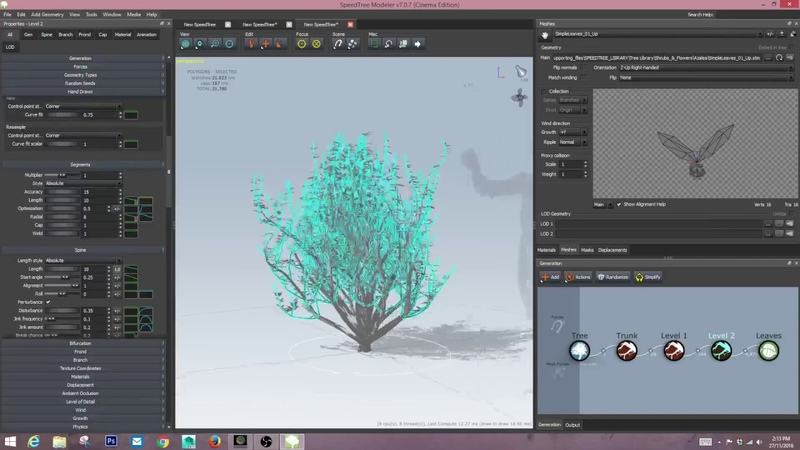 Speedtree Tutorial - how to make simple trees and shrubs