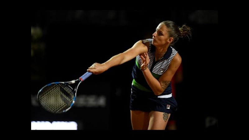 2017 Internazionali BNL d'Ita Round of 16 Karolina Pliskova vs Bacsinszky WTA Highlights