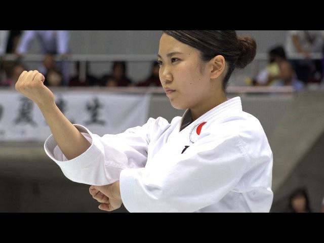 空手女子の形が凄い! エンピ・五十四歩小 Female Karate Kata Empi Gojushiho sho