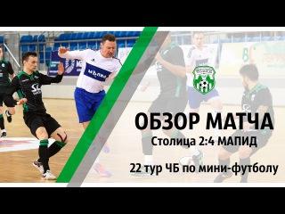 XXVIII Чемпионат, 22 тур, СТОЛИЦА (Минск) 2:4 МАПИД (Минск)