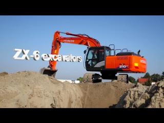 Новые экскаваторы Hitachi Zaxis-6  модели ZX 2017 года