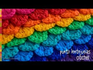 Punto MINI COCODRILO o lentejuelas tejido a crochet - Tejiendo Perú