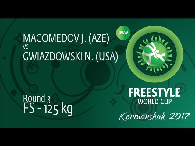 Round 3 FS - 125 kg J. MAGOMEDOV (AZE) df. N. GWIAZDOWSKI (USA), 3-1