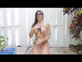 Chloe parsa - chloe's washing cars [big boobs, ass, cosmid, hair - brunette, public, topless, wet shirt] [1080p]