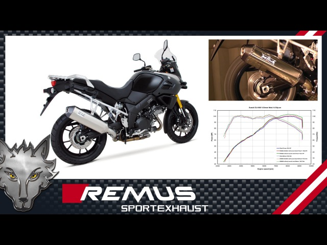 SUZUKI DL1000 V-Strom Mod. 2014 with REMUS OKAMI sport exhaust system