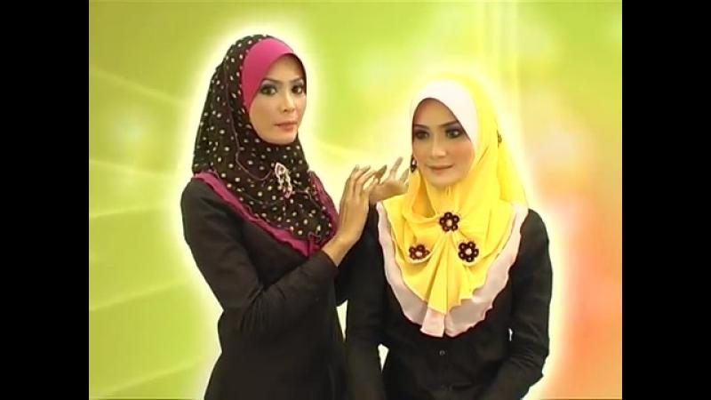 Cara pemakaian jilbab Fareeda Aisya