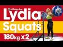 Lydia Valentin Heavy Squats 180kgx2! Hang Snatches 2017 Worlds Training Hall