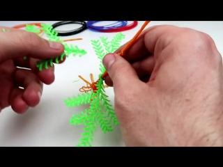 Рисуем ручкой 3Д новогоднюю ЕЛКУ